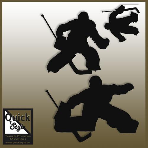 Eishockey Aufkleber Set Goalie