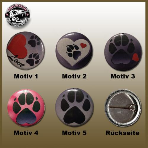 Hundemotiv Button / Pin / Badge / Anstecknadel