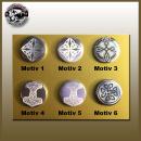 Cult, stylish button for celtic design fans