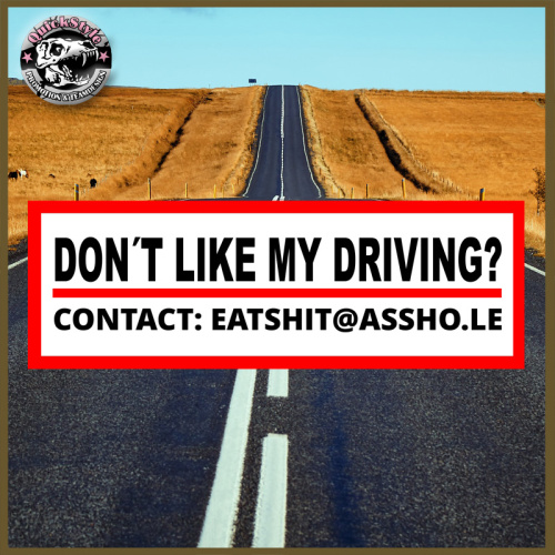 Fahrstil OK? - Don´t like my driving?  -  JDM Aufkleber * Shocker * Sticker