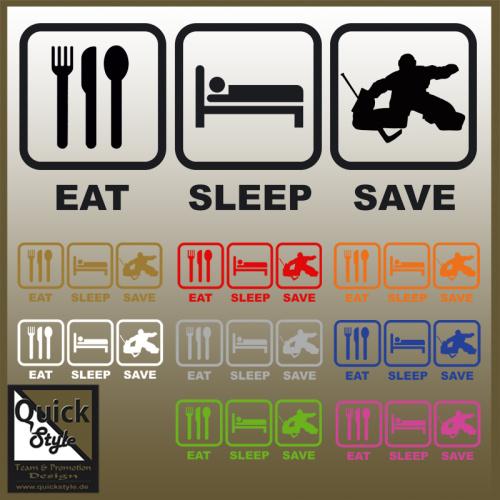 Eat-Sleep-Save Autoaufkleber