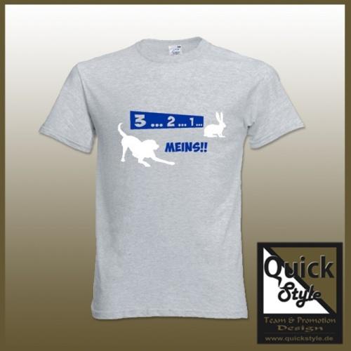 "Hundefreunde T-Shirt - ""Hasenjagd"""