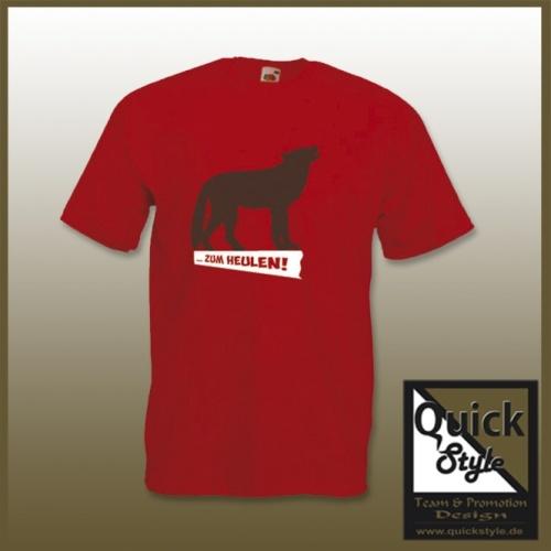 """Hundefreunde T-Shirt - """"Zum Heulen"""""""