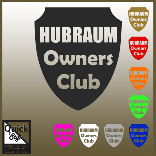 Hubraum Owners Club Autoaufkleber