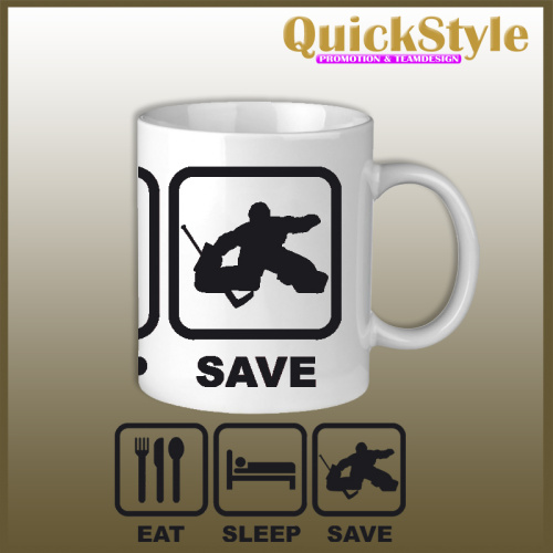 Eishockey Tasse EAT SLEEP SAVE