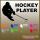 Hockeyplayer Autoaufkleber