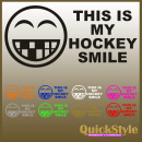 THIS IS MY HOCKEY SMILE - Autoaufkleber