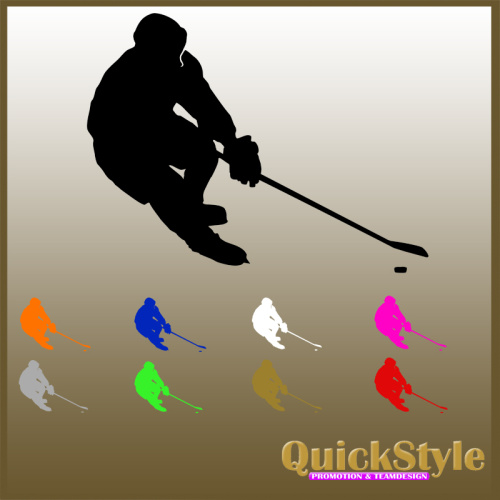 """Eishockeyspieler """"Scorer"""" - Autoaufkleber"""
