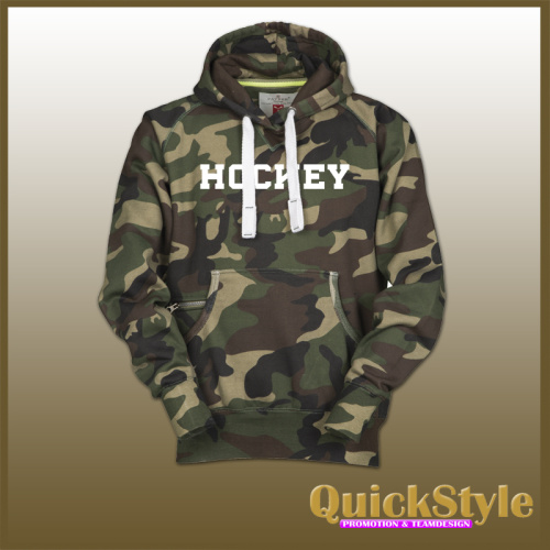 "Camouflage Hoodie  ""HOCKEY"""