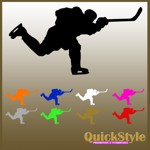 Hockeyplayer Slapshot- Car Decal