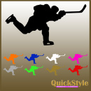 "Hockeyplayer ""Slapshot""- Car Decal"