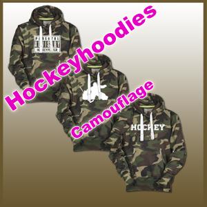 Camouflage Eishockey Hoodies für Jung und Alt